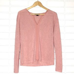 Sanctuary | Rose Pink Light V-Neck Sweater